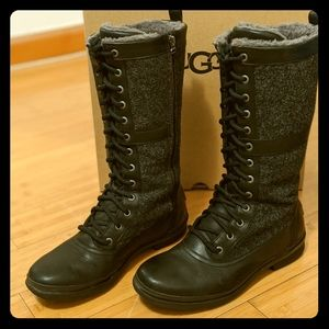 Ugg Elvia Tall Lace-Up Boots